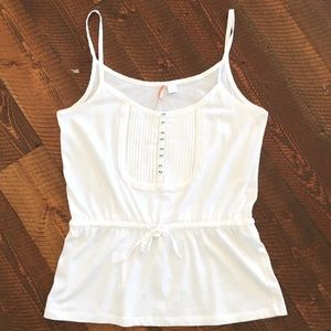 Anthropologie Tank with Pleats and Tie Waist Med